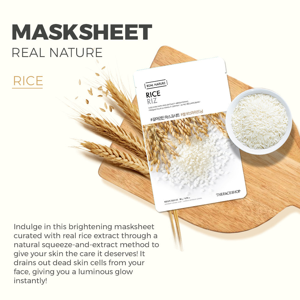 Real Nature Rice Face Mask