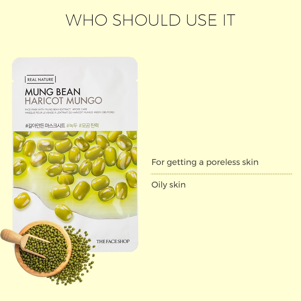 Real Nature Mung Bean Face Mask