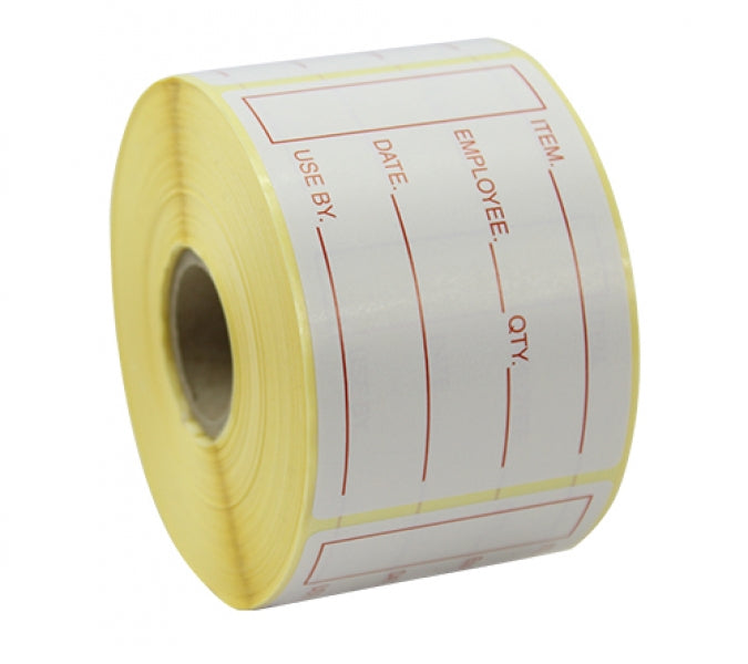 51x76mm Prepped Food Labels - 1000 Labels