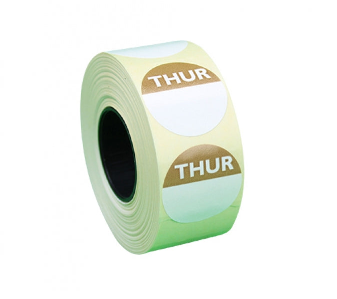 Food Hygiene Day Dot - Per Day - Per Roll - 25mm