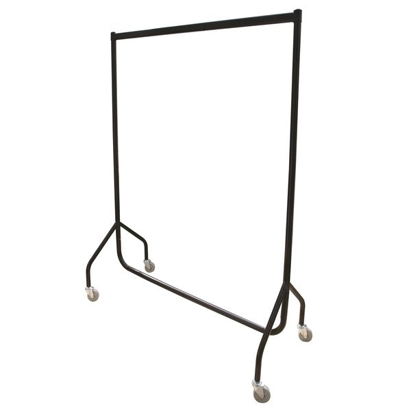 Easi-rail 6ft Garment Rail - Black - 4in Castors