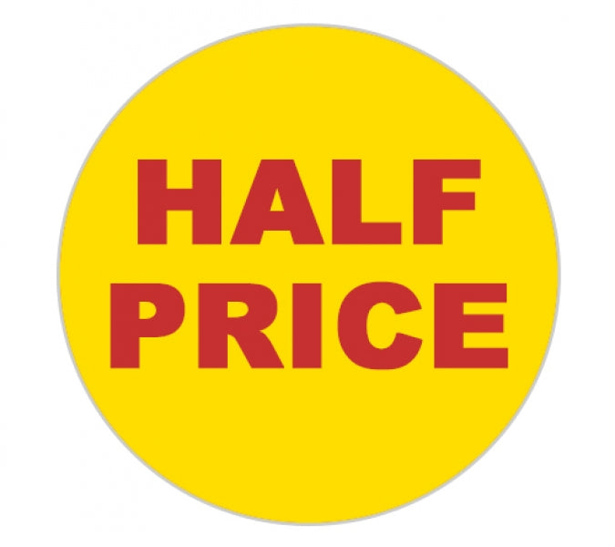 Promotional Labels - Half Price - 1000 Promo Labels