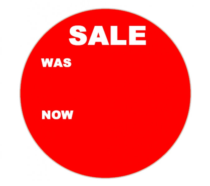Promotional Labels - Sale Was Now- 1000 Promo Labels