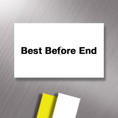 SATO PB22 Pre-Printed 'Best Before End' 16 x 23mm Price Gun Labels