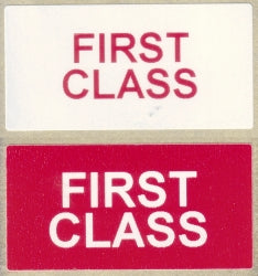 First Class Labels (Qty: 500)
