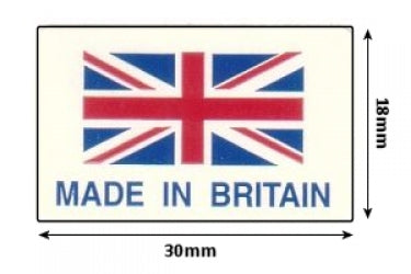 Self Adhesive Union Jack Labels - 30mm x 18mm