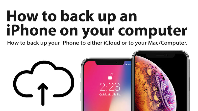 How to backup an iPhone to a computer