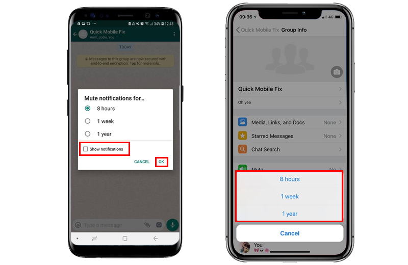 How To Mute Whatsapp Group Conversations iPhone and Android