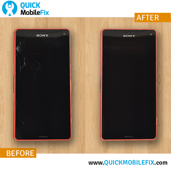 before and after repair sony