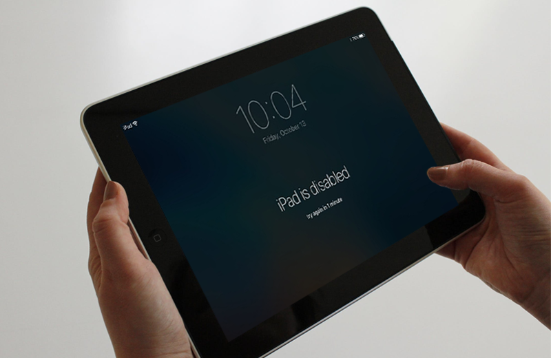 how to reset your ipad password