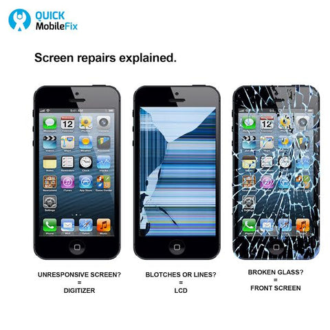 The difference between a cracked screen & broken lcd