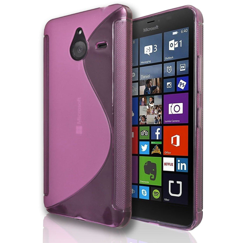 Microsoft Lumia 550 S Line Silicone Gel Case Cover - Light Pink