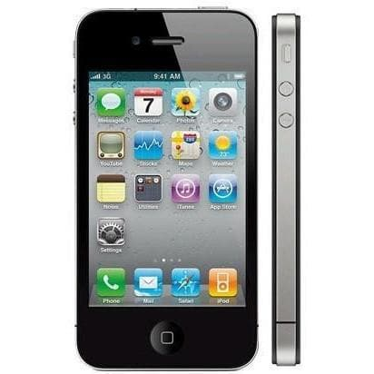 Apple iPhone 4 Black (16GB) Locked To EE Orange T-Mobile Virgin Good Condition
