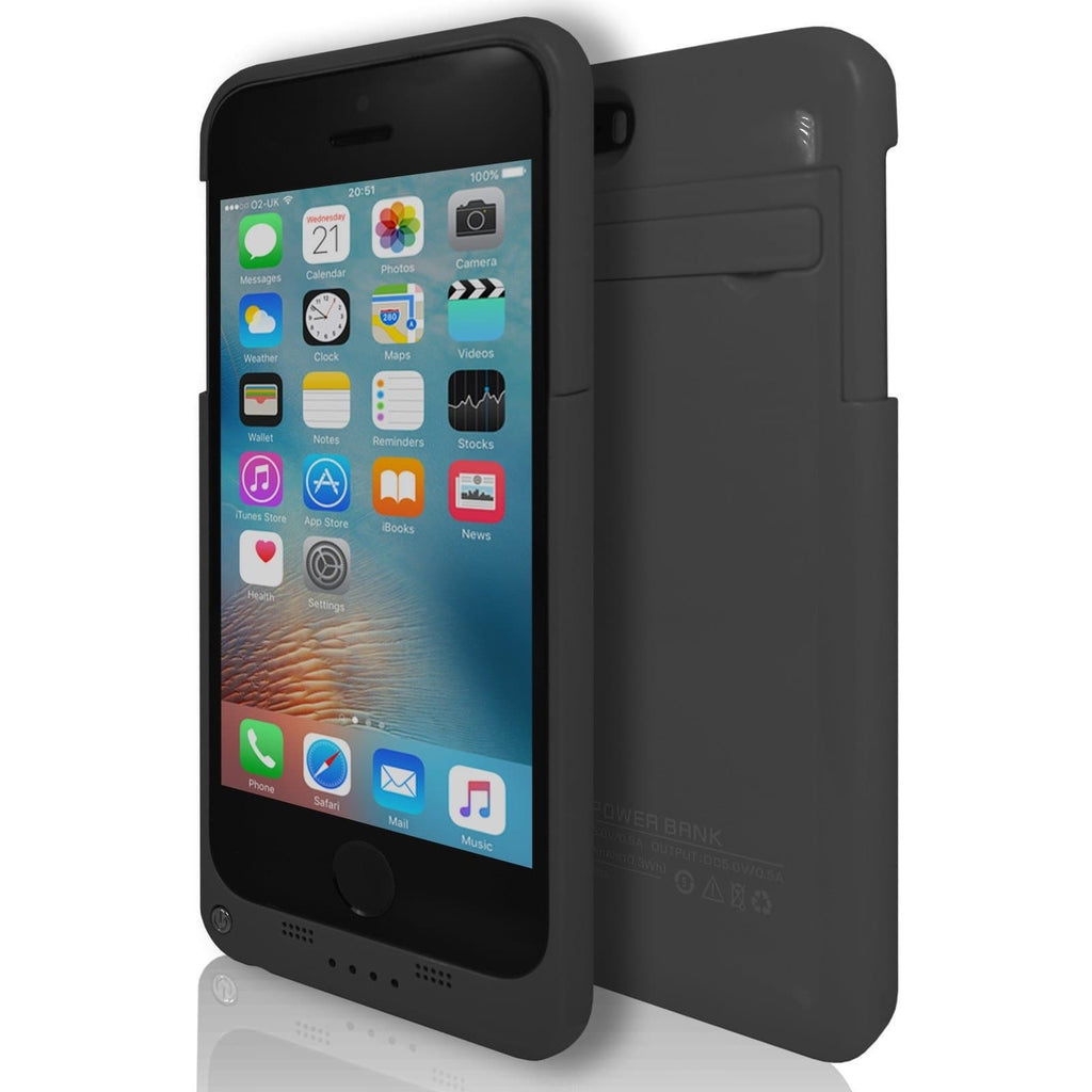 iPhone 5 / 5S / SE - Slim External Rechargeable Charger Battery Power Case - Black