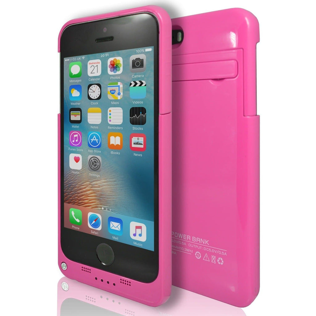 iPhone 5 / 5S / SE - Slim External Rechargeable Charger Battery Power Case - Pink