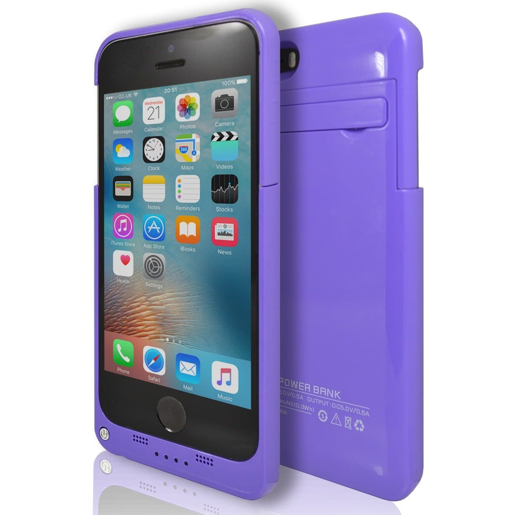 iPhone 5 / 5S / SE - Slim External Rechargeable Charger Battery Power Case - Purple