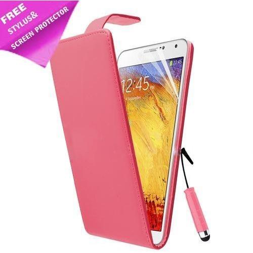 Pink  Flip Pu Premium  Leather Case For Samsung Galaxy Note 3 N9000 N9005+