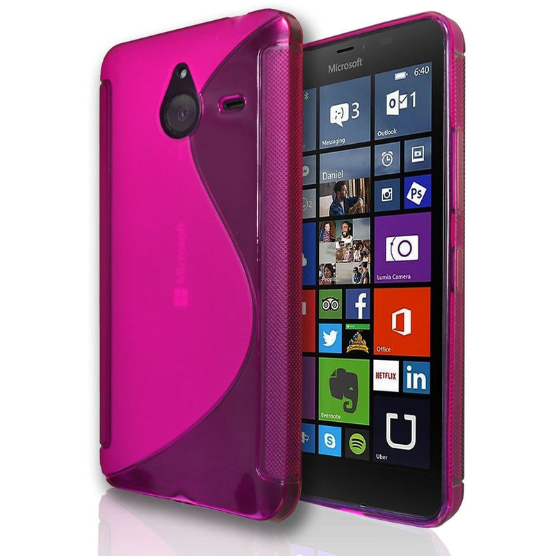 Microsoft Lumia 535 S Line Silicone Gel Case Cover - Pink