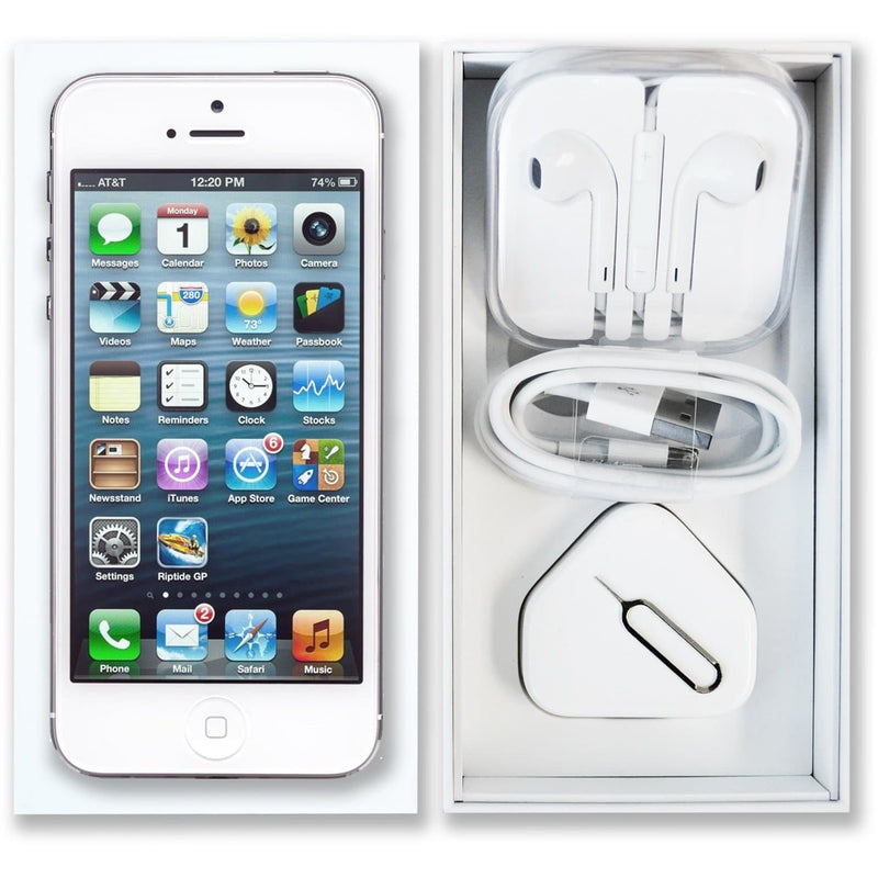 Apple iPhone 5 White / Silver (64GB) Unlocked Pristine Condition Full Bundle