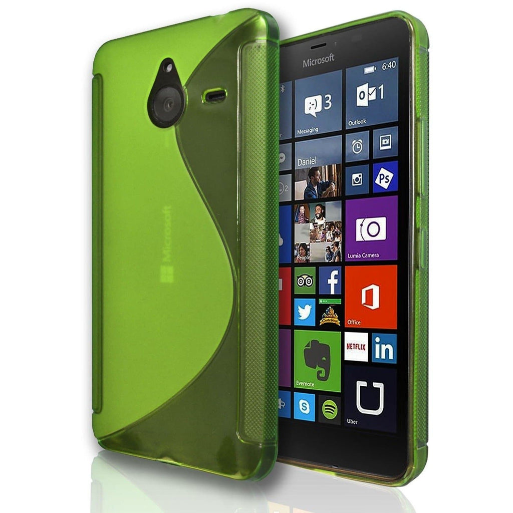 Nokia Lumia 520 S Line Silicone Gel Case Cover - Green