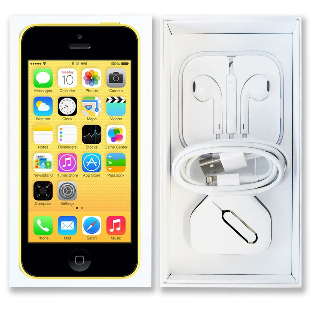 Apple iPhone 5C Yellow (8GB) - Factory Unlocked - Pristine Like New