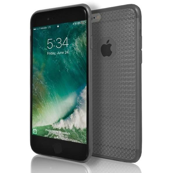 iPhone 6 / 6S Clear Diamond Black Case Cover