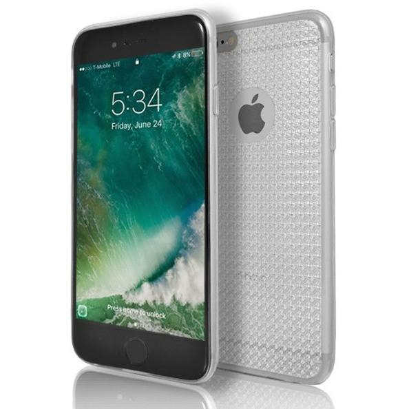 iPhone 6 Plus / 6S Plus Clear Diamond Texture Grip Case- Clear Transparent