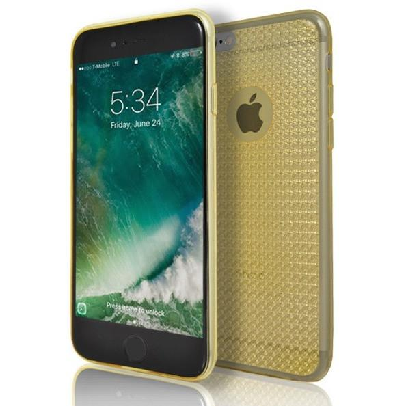 iPhone 6 / 6S Clear Diamond Gold Case Cover