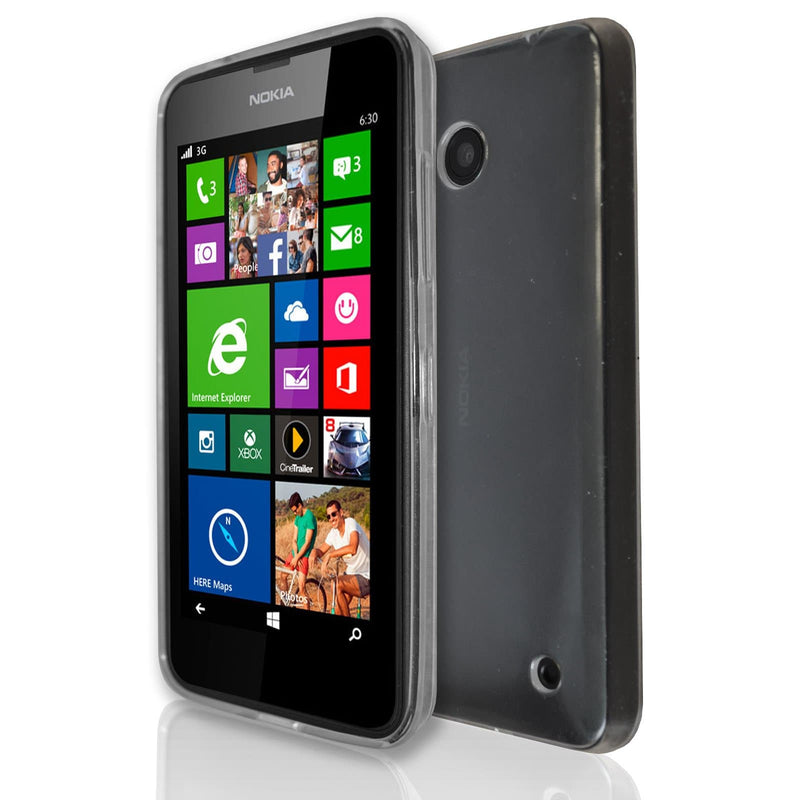 Nokia Lumia 630  - Gel Soft Silicone Protective Case Cover - Clear