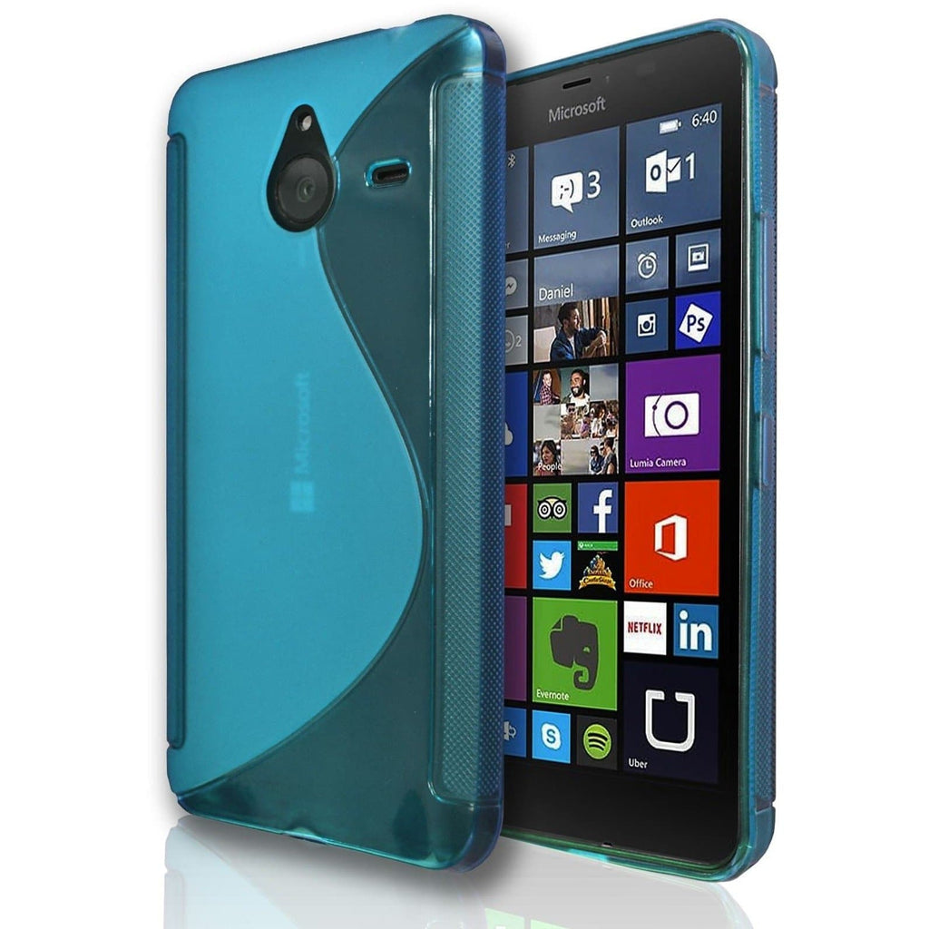 Nokia Lumia 730 S Line Silicone Gel Case Cover - Light Blue