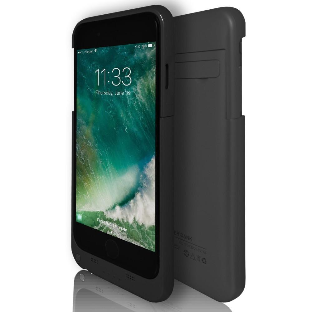 iPhone 7- Rechargeable Battery Case 3200 Mah With Stand Black