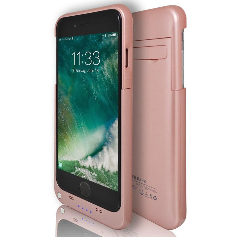 iPhone 7- Rechargeable Battery Case 3200 Mah With Stand Rose Gold