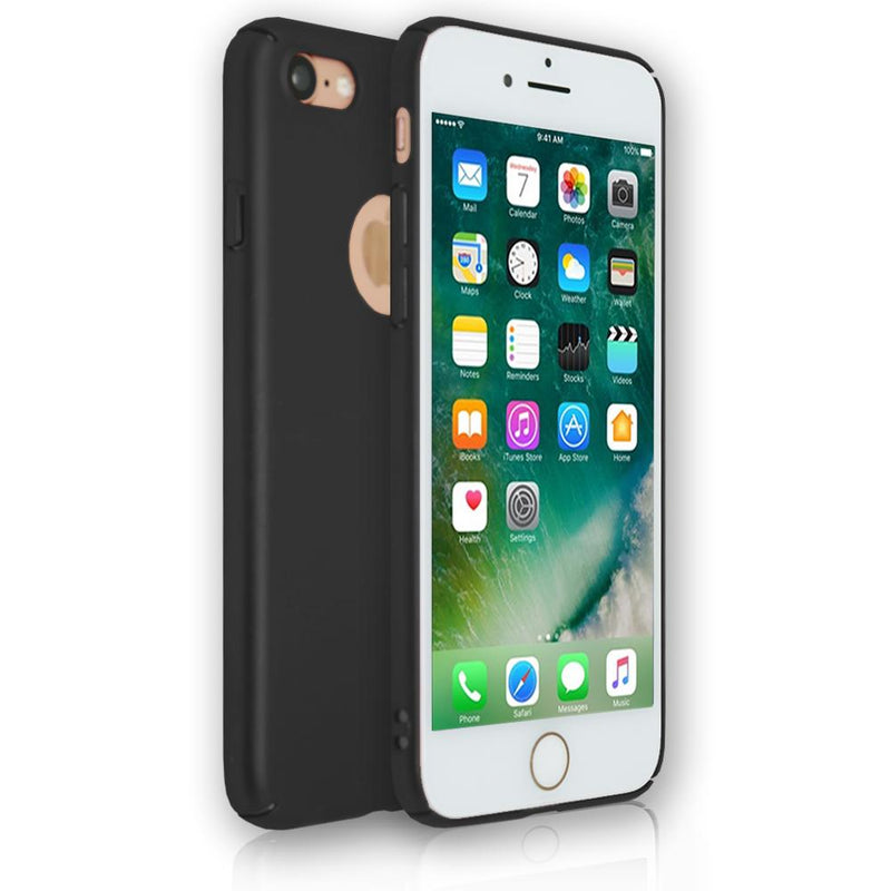 Apple iPhone 8 - Soft Touch Plastic Rear Surround Case - Black