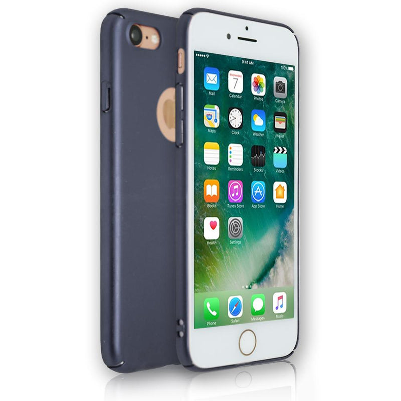 Apple iPhone 8 - Soft Touch Plastic Rear Surround Case - Blue