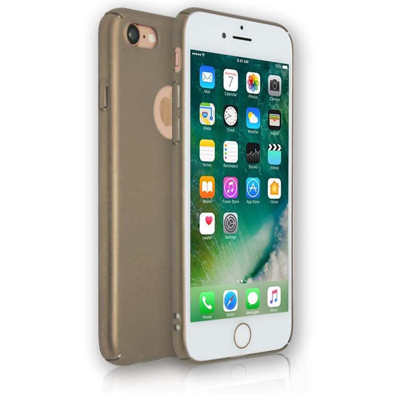Apple iPhone 8 Plus - Soft Touch Plastic Rear Surround Case - Gold