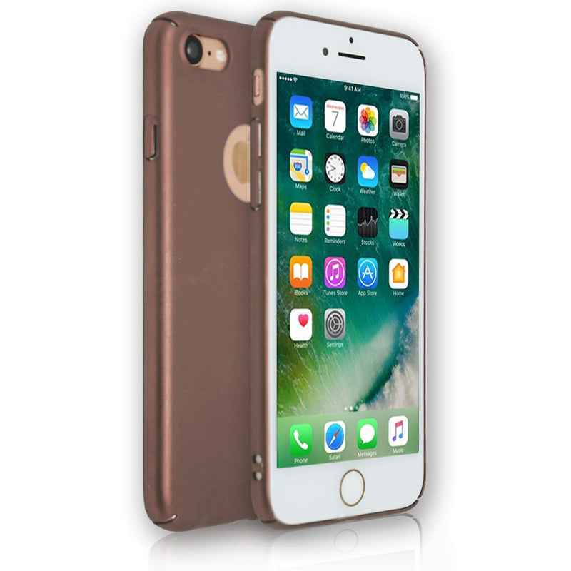 Apple iPhone 7 - Soft Touch Plastic Rear Surround Case - Rose Gold