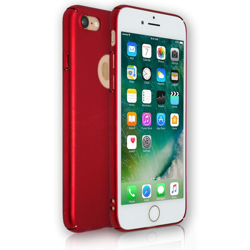 Apple iPhone 7 - Soft Touch Plastic Rear Surround Case - Red
