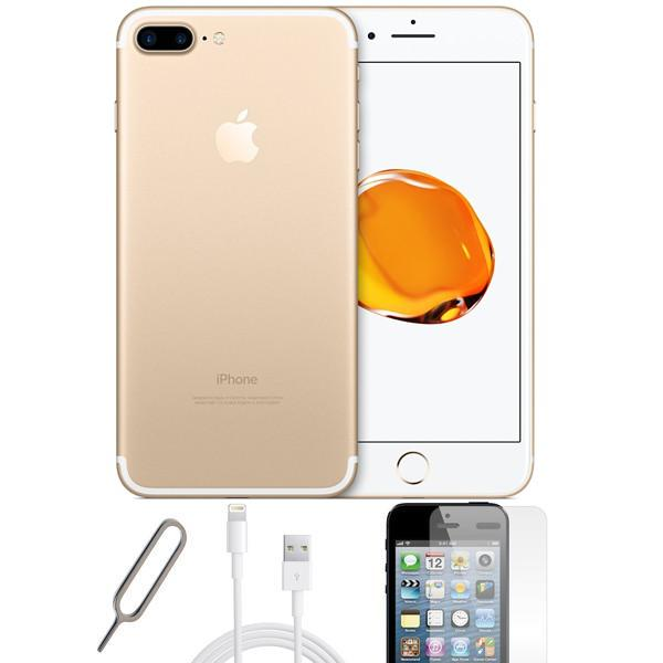 Apple iPhone 7 Plus Champagne Gold (256GB) Unlocked Pristine Condition Basic Bundle