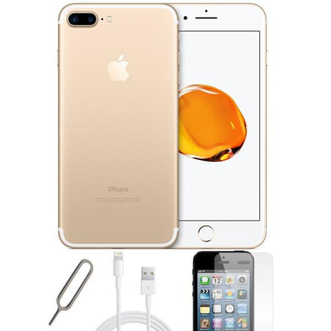 Apple iPhone 7 Plus Champagne Gold (128GB) Unlocked Pristine Condition Basic Bundle