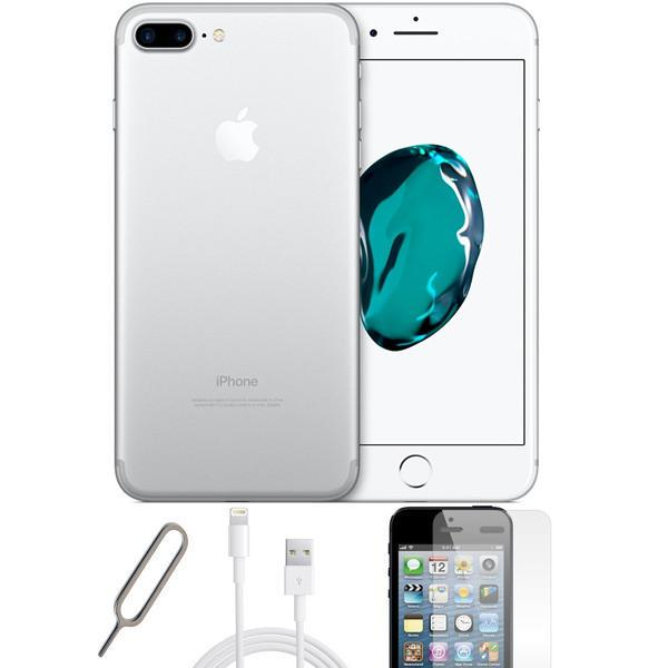 Apple iPhone 7 Plus - Silver - (128GB) - Unlocked - Grade A - Basic Bundle