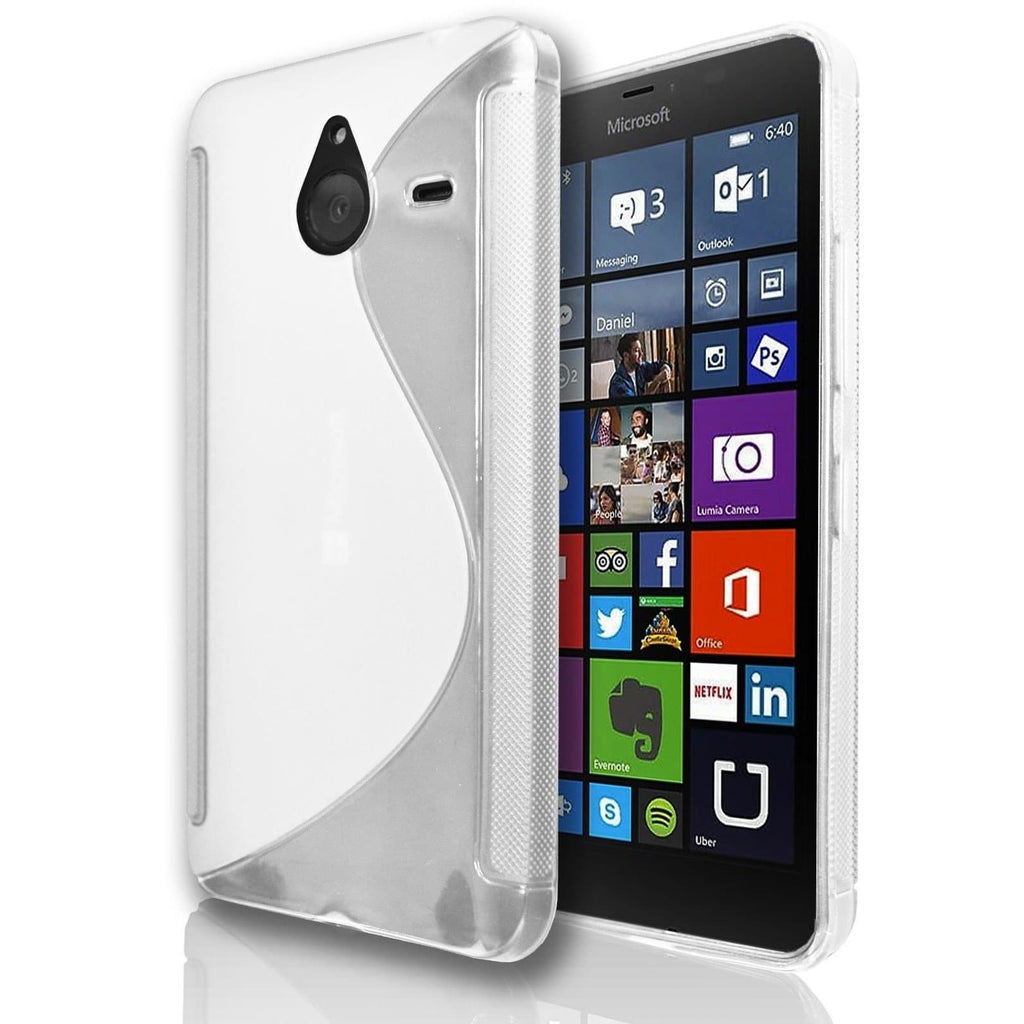 Microsoft Lumia 550 S Line Silicone Gel Case Cover - White
