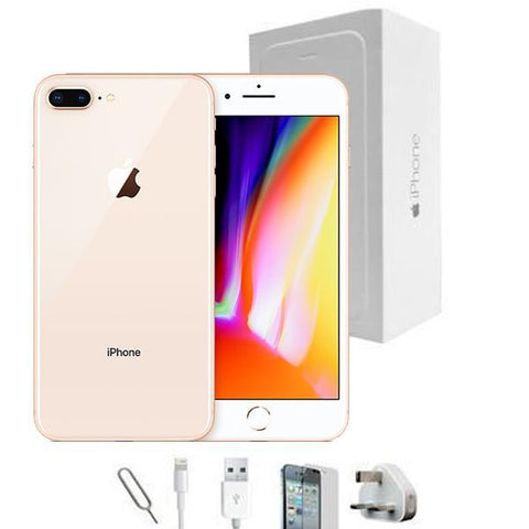 Apple iPhone 8 Plus Champagne Gold (256GB) Unlocked Grade A Full Bundle
