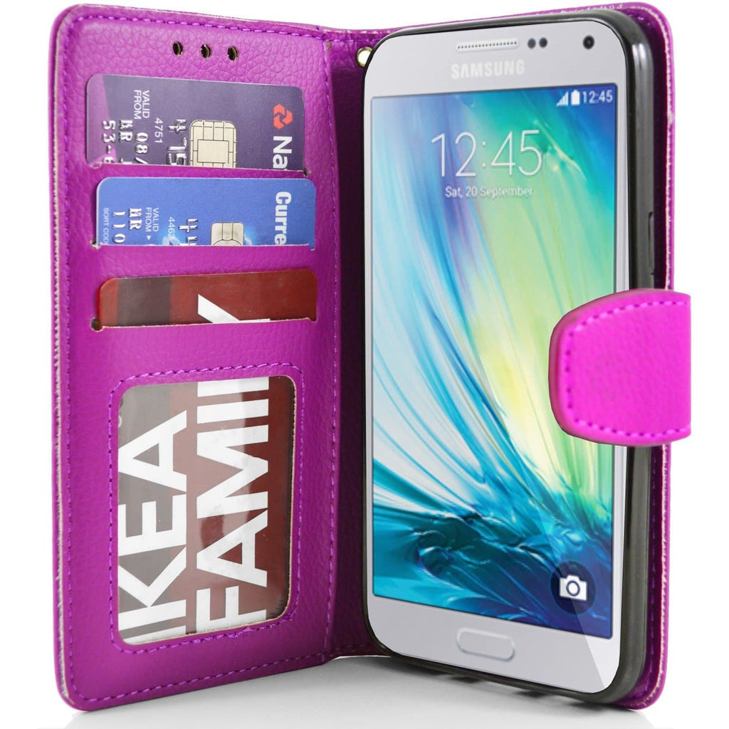 Samsung Galaxy A5 PU Leather Wallet Case - Pink
