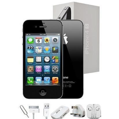 Apple iPhone 4S (16GB) - Black - Factory Unlocked - Grade A