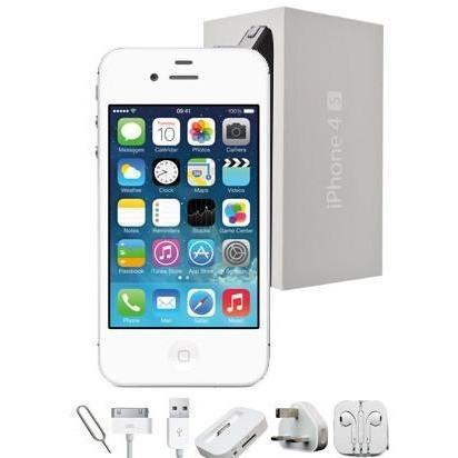 Apple iPhone 4S (16GB) - White - Factory Unlocked - Grade A