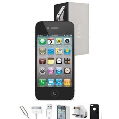 Apple iPhone 4 - (16GB) Black Factory Unlocked Grade A