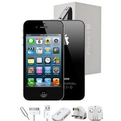 Apple iPhone 4 (16GB) - Black - Factory Unlocked - Grade A