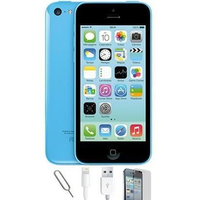 Apple iPhone 5C (16GB) - Blue - Factory Unlocked - Grade A Bundle