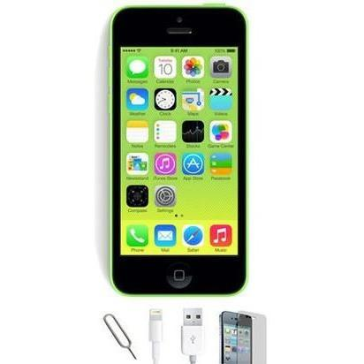 Apple iPhone 5C - (16GB) Green Factory Unlocked Grade A Bundle