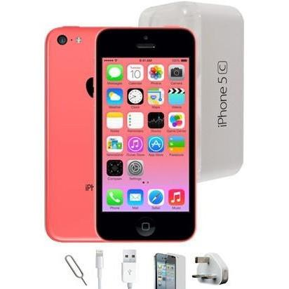Apple iPhone 5C (16GB) - Pink - Factory Unlocked - Grade A Full Bundle